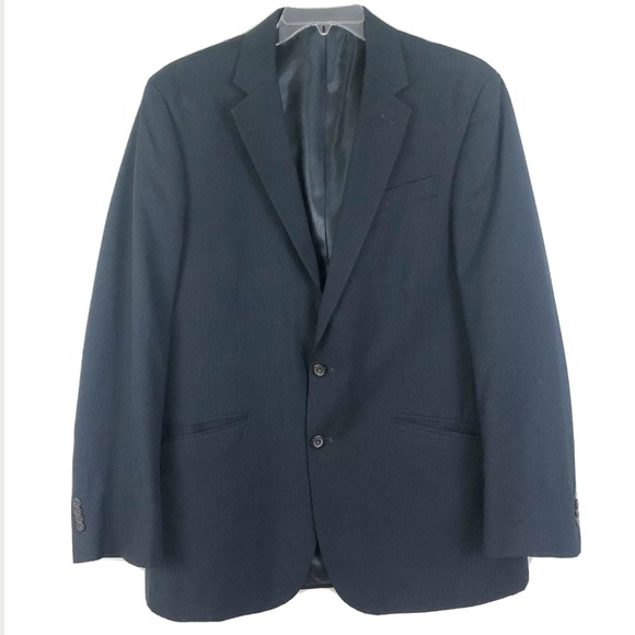 Kenneth Cole Other - Kenneth Cole Navy Pinstripe Suit Jacket Sz 43 L